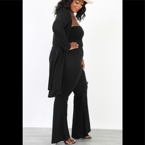 Pants - Plus size Cardigan Pants Set
